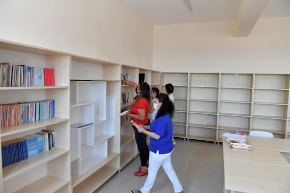 Okul Kütüphanesine Kavuştu